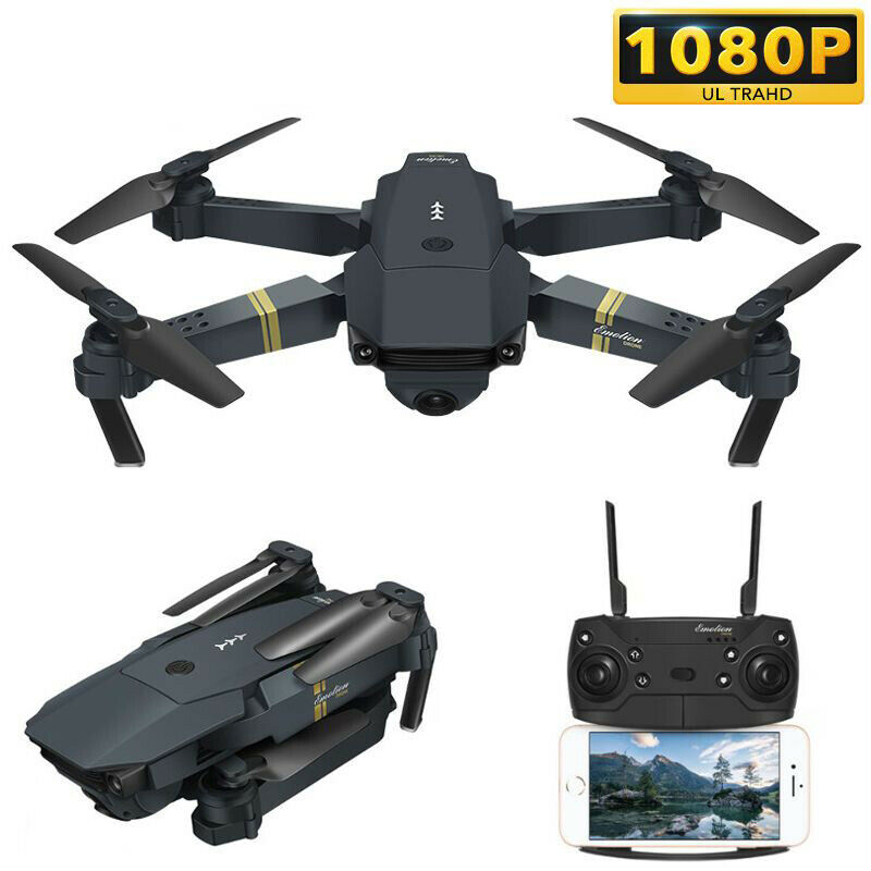 Quadcopter Drone RC Wide Angle HD telecamera Wifi Foldable Drone With Spare Parts
