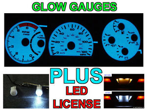 Details about Gauge Face Overlay + LED License Plate Bulbs For 1991-1993  GMC Typhoon / Syclone