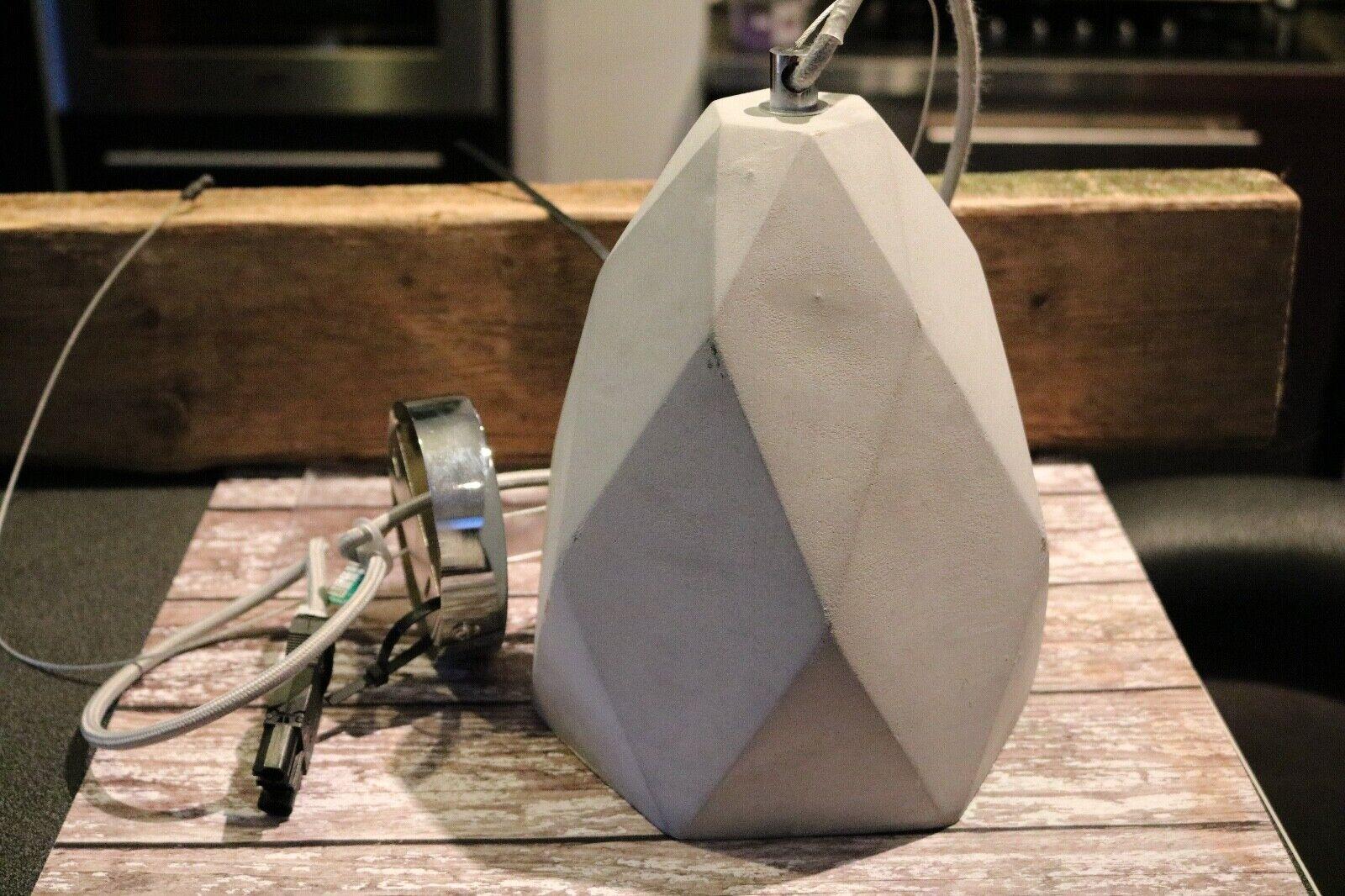Concrete Ceiling Light pendant grau Geometric design 23cm  Brand New Industrial