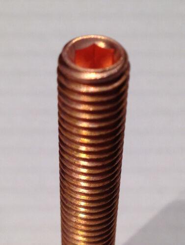 10.9 hochfest 12 Stück getempert 6kant Kupfer Stehbolzen M8x50