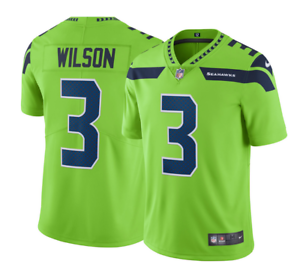 Details about Russell Wilson #3 Seattle Seahawks Men's Lime Green Rush Jersey