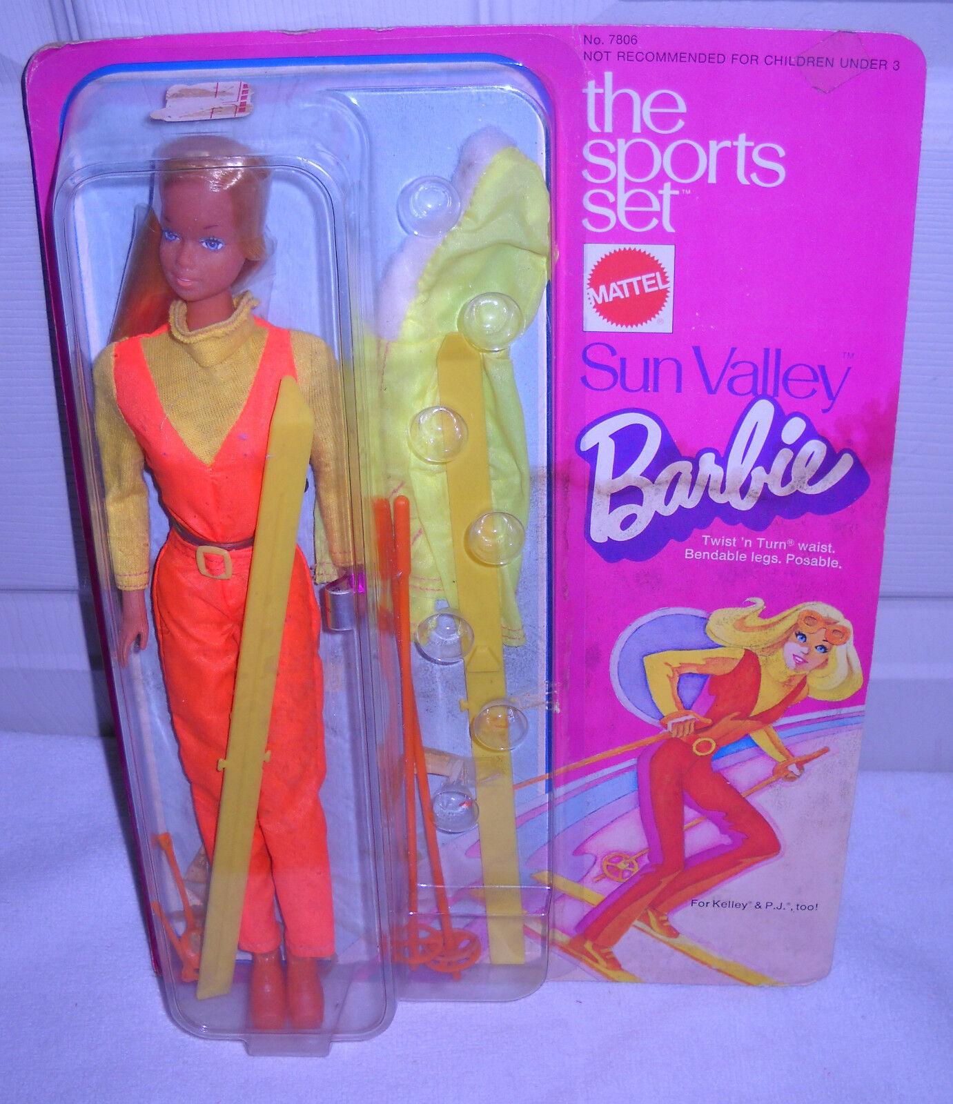 Juego De Deportes nrfc Vintage Mattel la muñeca Barbie Sun Valley