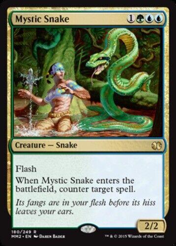 MTG-1x-Light Play Foil-Modern Masters 2015 English-Mystic Snake