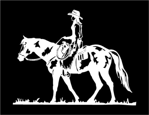 Pleasure Horse Decal Cowgirl car truck trailer window vinyl sticker graphics