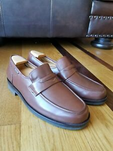 c2684395d2db8 MEPHISTO Men s Brown Leather Slip On Penny Loafers Shoes Size 8 Made ...