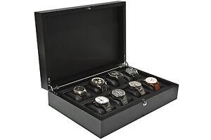 edle UHRENBOX FÜR 8 UHREN aus Massivholz, neu+OVP - ideal für große Uhren!