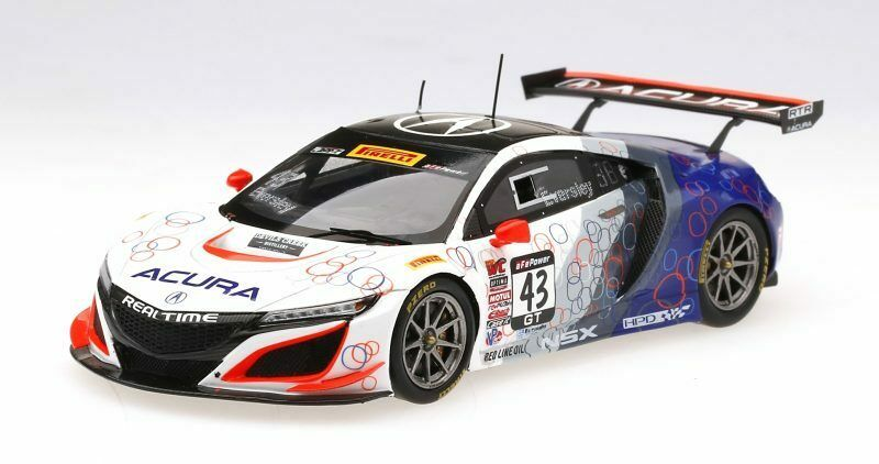 Acura Nsx Gt3  86 Uncle Sam Imsa Championship Watkins Glen 2017 1 43 Model