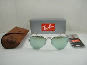 aa515fabe2 Image is loading RAY-BAN-AVIATOR-SUNGLASSES-RB3449-904330-SILVER-FRAME-