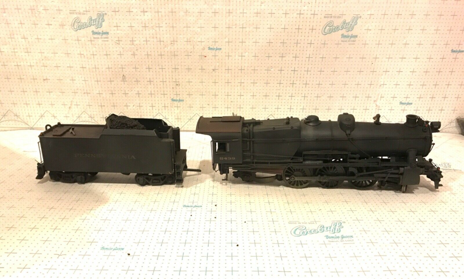 O SCALE 2 RAIL BRASS PRR 462 K4 LOCOMOTIVE & TENDER DECO AS CAB 5439 KTM scatola