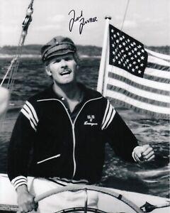 Ted Turner #0  8x10 Signed Photo w/ COA Sailing