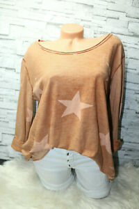Italy-Shirt-Tunika-Bluse-Gr-36-38-40-42-Hemd-Star-Print-Vintage-blogger