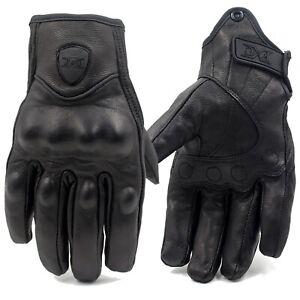 2021 Retro Real Leather Motorcycle Gloves Moto Waterproof Gloves Motorbike Glove