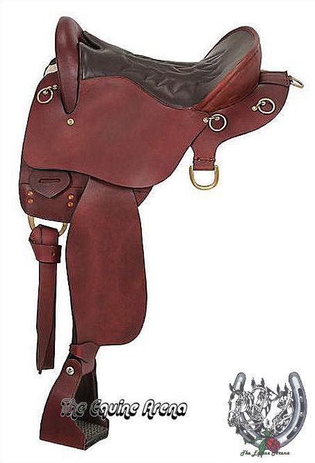 Silla de montar de cuero Trekker sin cuerno de  resistencia (Negro o Marrón) (15.5 , 16.5  o 17.5 )  oferta de tienda