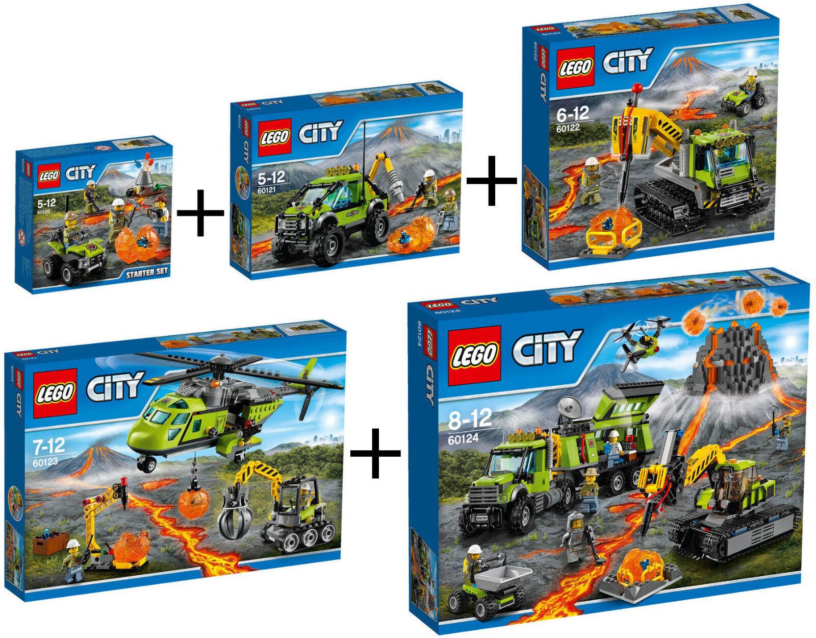 LEGO CITY VOLCÁN: 60120 60121 60122 60123 60124 - NUEVOS, PRECINTADOS SIN ABRIR