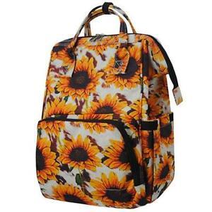 Sunflower Cowhide NGIL Diaper Bag Baby Kids Toddler Mom Backpack Free Ship NEW