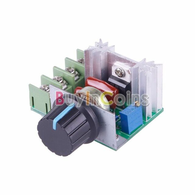 Convenient 2000W 220V AC SCR Electric Voltage Regulator Motor Speed Controller