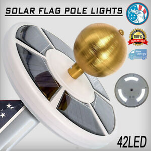 42-LED-Solar-Powered-Flag-pole-Night-Light-Outdoor-Camping-Lamp-Super-Bright-US