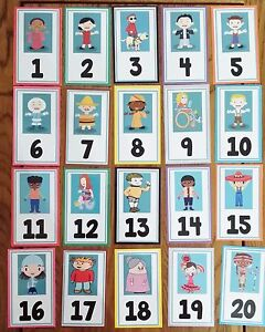 MULTICULTURAL/<wbr/>DIVERSITY NUMBERS -20 FLASH CARDS - OFSTED / EYFS/ KS1- PRE-SCHOOL