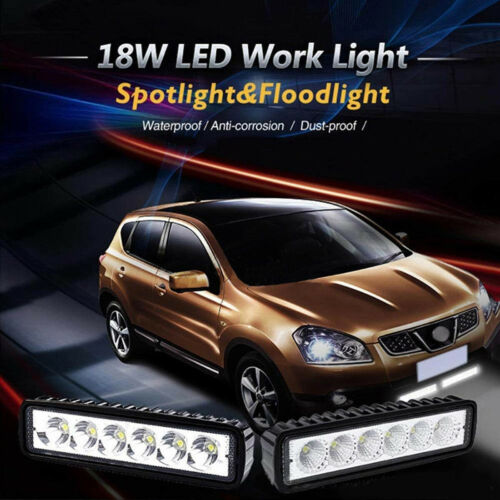 "2pcs 6/"" LED 18W Work Light Bar Driving Lamp Fog Off Road SUV Car Boat Truck 4WD"