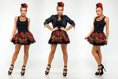 Donatan Cleo Folk Pattern Slavic Girl Mini Skirt Sexy Unique Poland Black Red Elegante Form