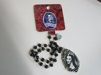 Rock Rebel Lily Munster Beaded Rosary Necklace Universal Monsters The Munsters