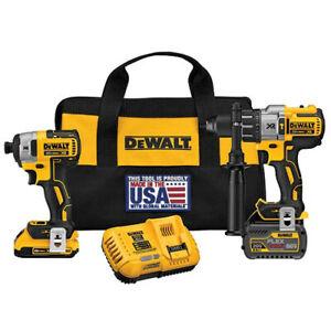 DEWALT-FlexVolt-20V-MAX-Li-Ion-2-Tool-Combo-Kit-with-2-Batteries-DCK299D1T1-new