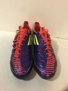 5f356851222 Adidas Men s F50 Adizero TRX FG LEA Purple Leather 12.5 G40336 ...