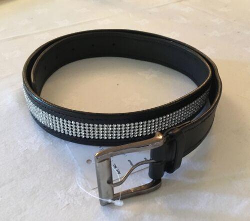 Sparkly Diamante Belt Black leather dressage horse riding 2 designs 4 sizes