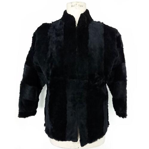 In Fur Ele 6062 Art Nero Vintage Pelliccia Mex Giacca Blue Di Visone Pelz 560S8Txqw