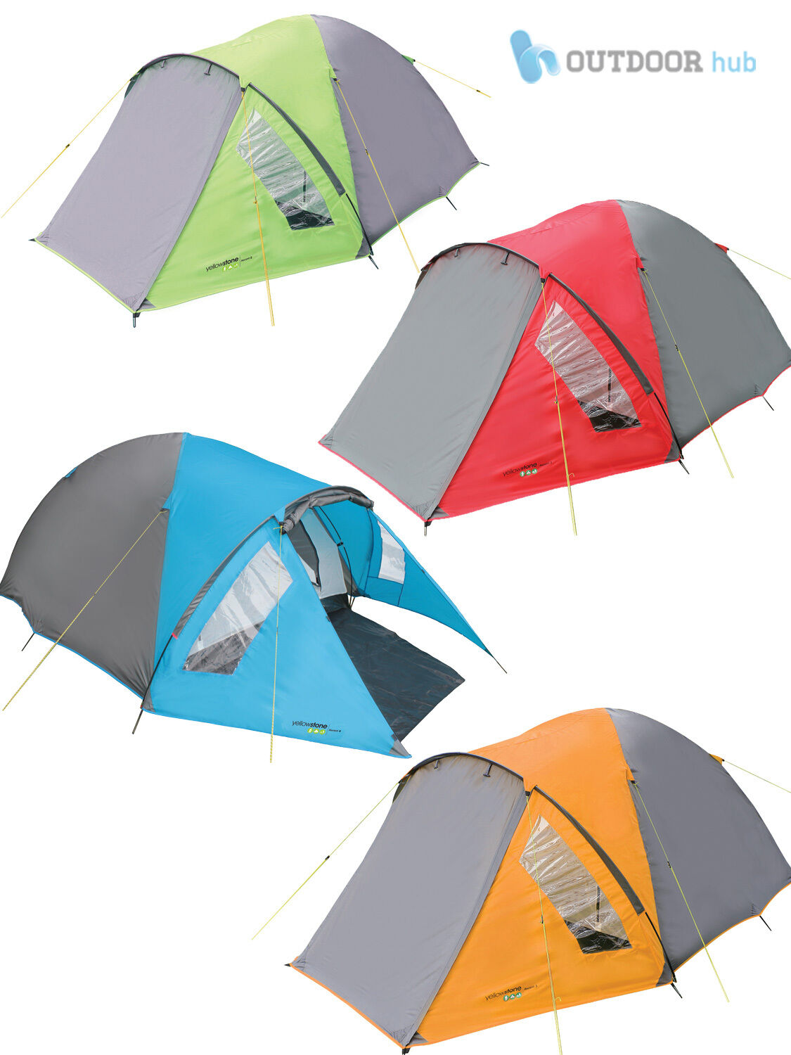 Ascent 2 3 4 Man Tent Berth Person Easy Pitch Family Camping Festival Hiking