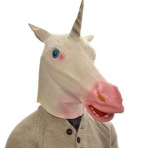 Latex Tete Complete Overhead Dingo Licorne Drole Animal Cosplay Halloween Deguisement Masque Ebay