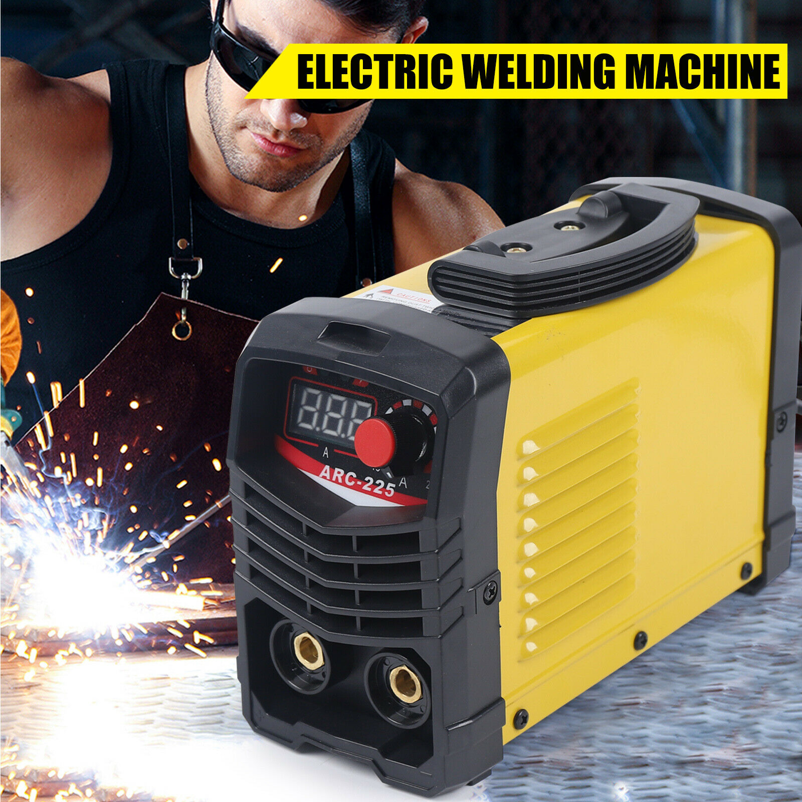 Electric Welder LCD Display IGBT Inverter Welding Machine 10-225A Adjustable USA. Available Now for 73.00