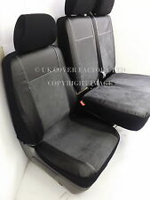 VW TRANSPORTER T5 VAN SEAT COVER CHARCOAL GREY ALCANTARA  P70DGY IN STOCK!!!