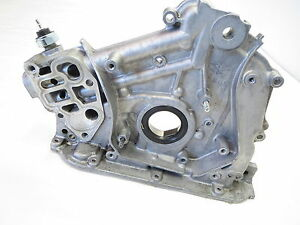 04 08 acura tl v6 3 2l engine oil pump filter housing timing cover rh ebay com 2002 Acura TL Service Manual 2004 Acura TL Transmission Filter