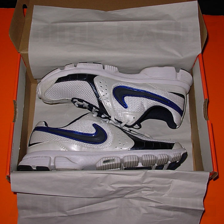 NiKE AiR ZOOM EXPLOSiON ROAD RUNNiNG SNEAKERS SHOES WHiTE BLUE MEN'S SiZE 10 10D