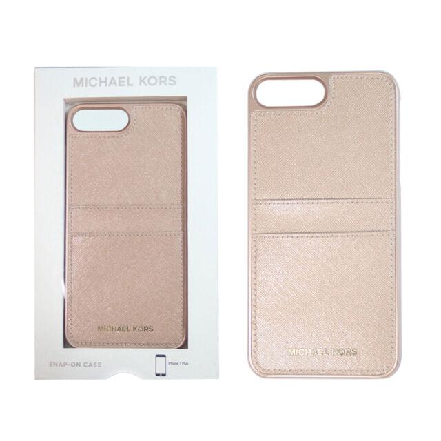 sale retailer a849e e1bd3 Michael Kors Saffiano Leather Pocket Cover Case Apple iPhone 6 Plus Ballet