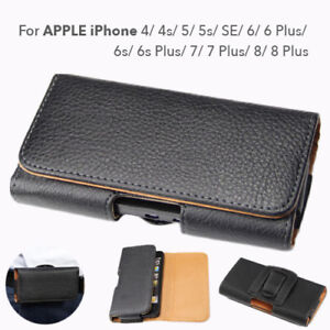 iPhone-8-7-Plus-6s-6-SE-5-5s-4s-for-Apple-PU-Leather-Case-cover-Pouch-Belt-Clip