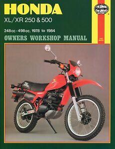 1978 1984 honda xl250 xr250 xl500 xr500 xl xr 250 500 haynes repair rh ebay com 1972 Honda XL250 1986 Honda XL250