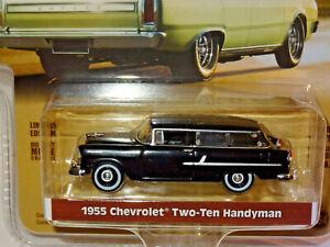 Greenlight-29950-Estate-Wagen-3-Onyx-Schwarz-1955-Chevy-Two-Ten-Handyman