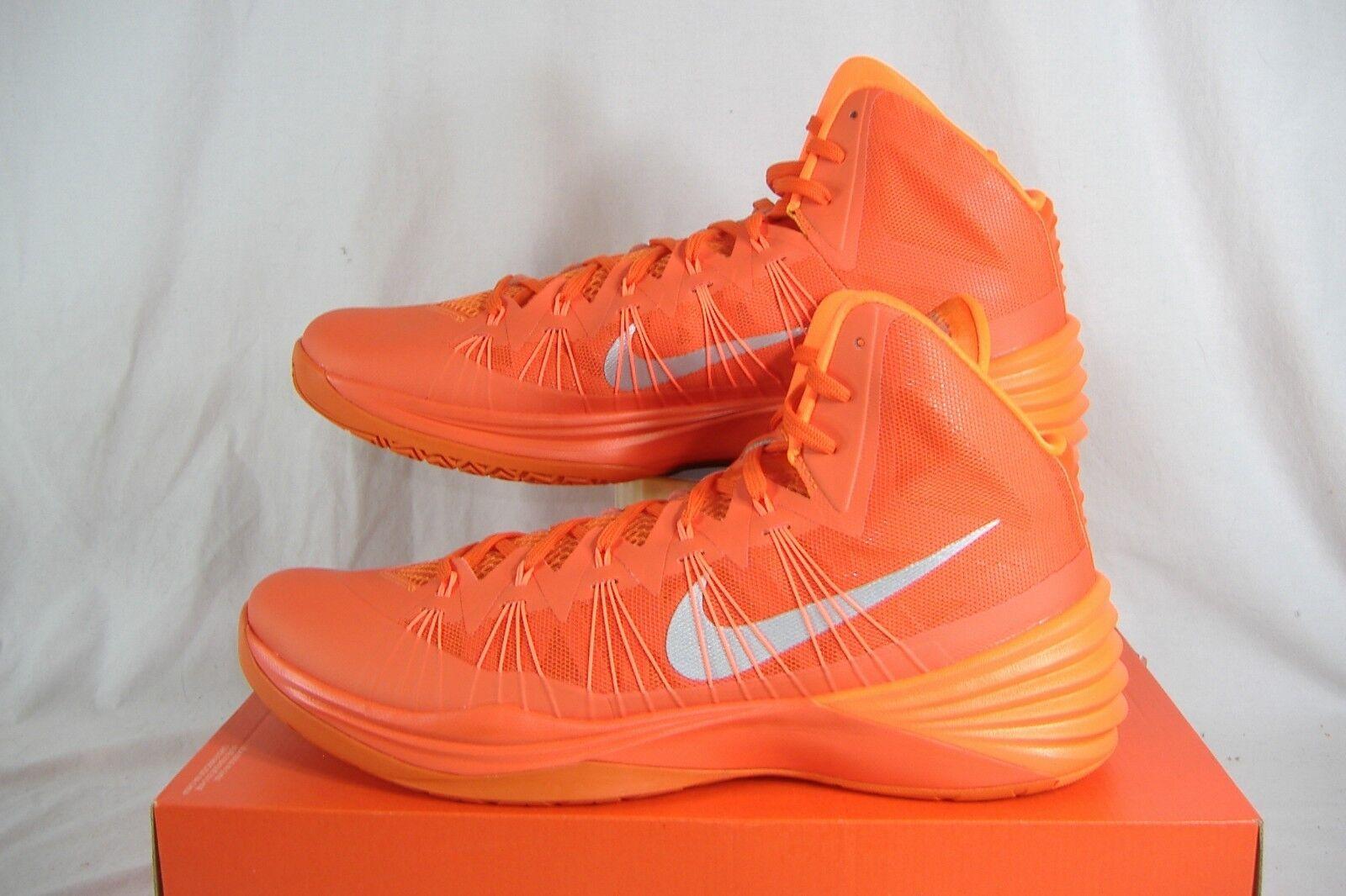 Mens 18 NIKE Hyperdunk 2013 TB Orange High Top Basketball Shoes    584433-800