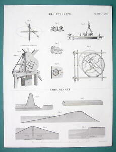 DRAWING-Instruments-Elliptograph-Embankments-1840-Fine-Quality-Print