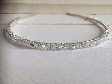 Clear Sparkly Swarovski Crystal Headband Hairband Alice Band Wedding Bridal