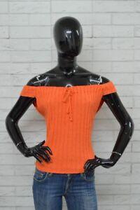 Maglia-MOSCHINO-JEANS-Donna-Taglia-Size-46-Woman-Frau-Shirt-Polo-Camicia-Jersey