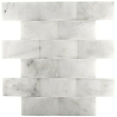 Carrara 2x4 Wavy Honed Marble Mosaic