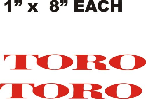 "PAIR OF TORO DECALS RED     1/"" X 8/"""