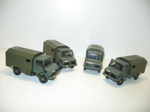 Camión mercedes unimog camioneta taller militar SOLIDO