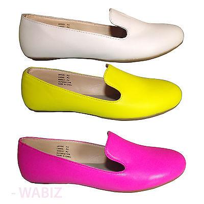 Para Mujer Bailarina Ballet Bombas Dolly Damas Tacón Bajo Mocasines Zapatos Talla 3 - 8