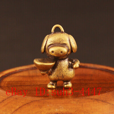 Chinese Handmade Copper  Brass Magpie Small Fengshui Statue Ornament