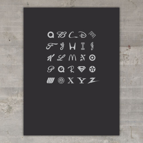 """Black Version /""""The ABC/'s of Branding/"""" Limited Edition Art Print"""