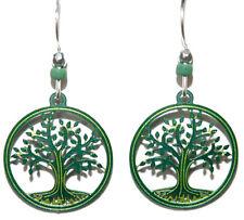 SIENNA SKY GREEN TREE OF LIFE DANGLE EARRINGS (SS009)